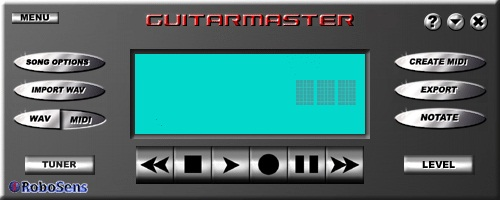 Guitarmaster Guitar Software - low-cost MIDI conversion and tab transcription for guitarists.